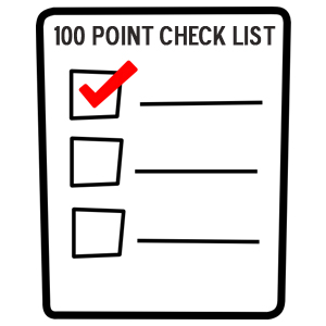 100 point check list