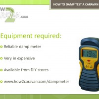 How to damp test a caravan